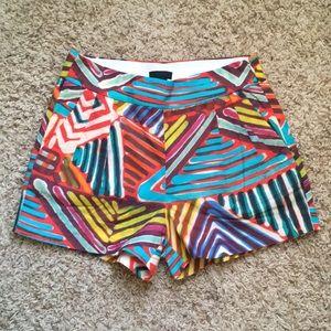 High-waisted J.Crew Printed Shorts
